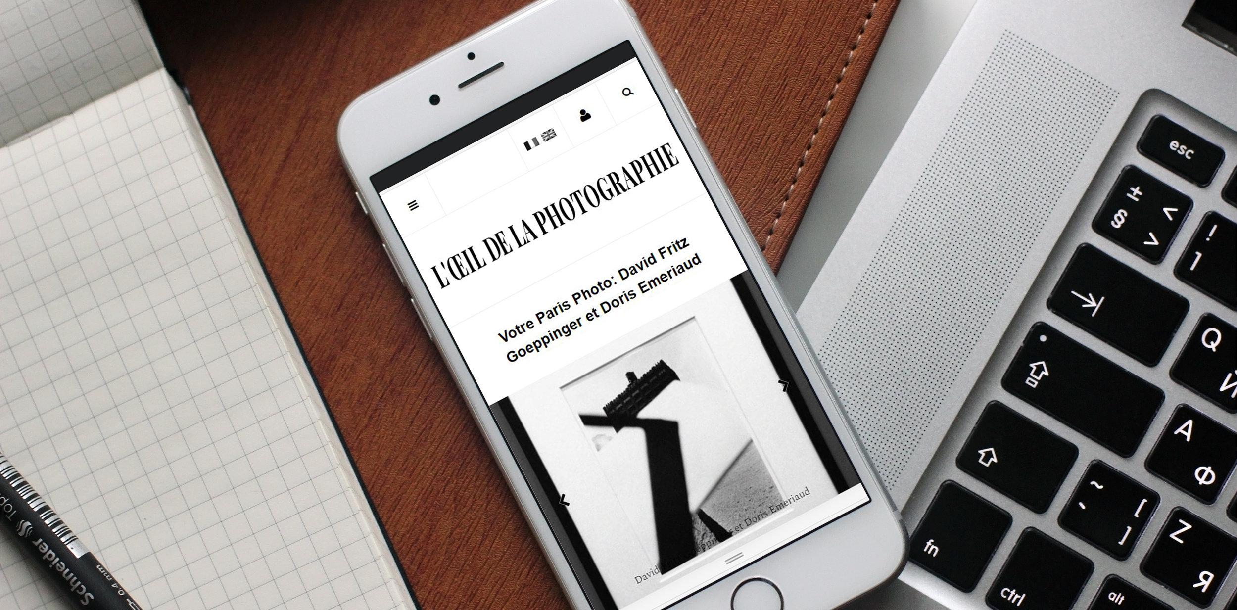 Le week-end dernier se tenait le salon Paris Photo. Par chance, nous avons pu faire une petite sélection de nos coups de cœurs afin que l'influent site L'œil de La Photographie les diffuses.