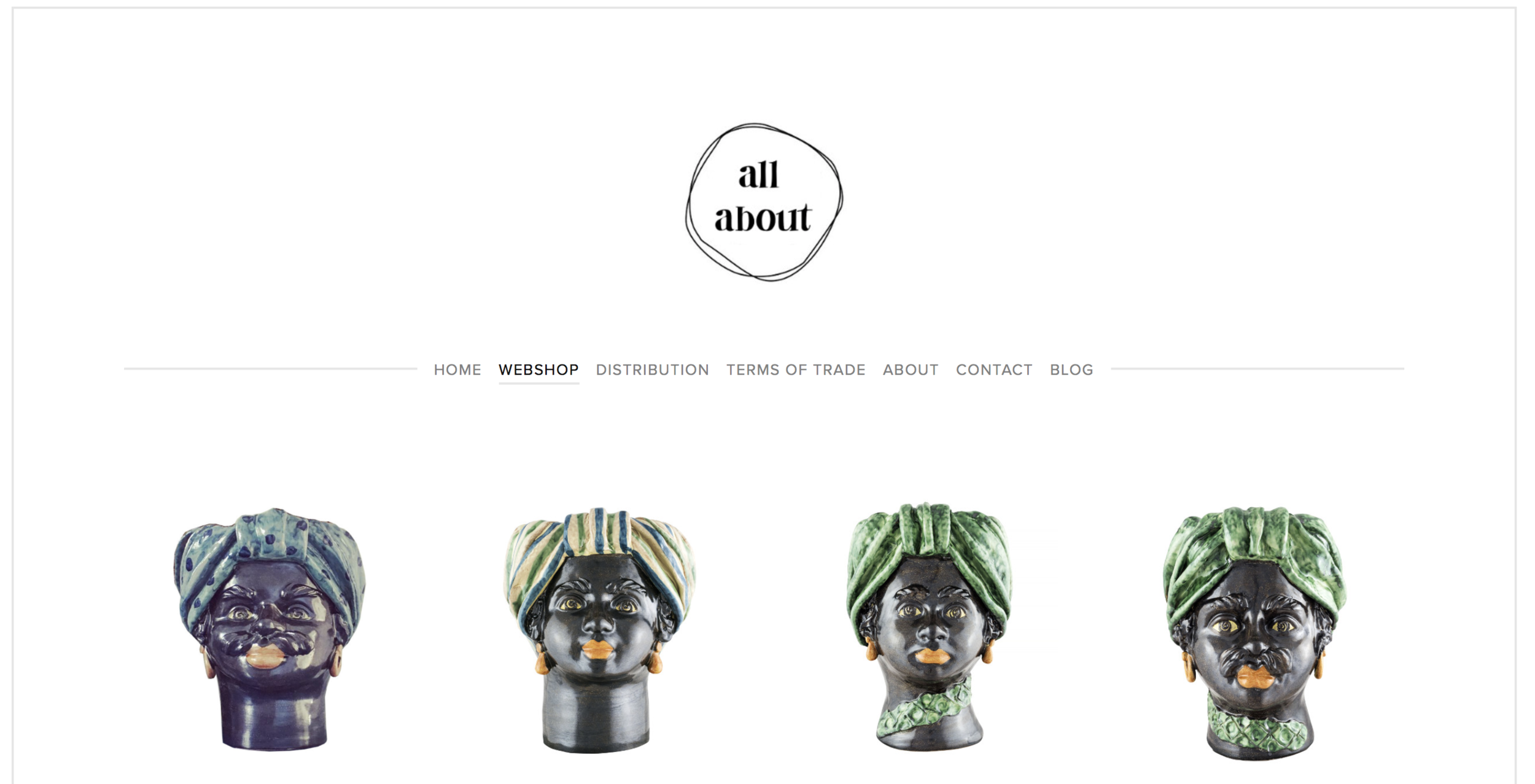 We are very happy to announce that our  webshop  is now official open. You will find a lot of beautiful, cool and handcrafted headvases by Giacomo Alessi.  For PR, WHOLESALE and PRIVATE enquiries in Scandinavia please feel free to send us an e-mail to info @ allabout . dk  Thanks!  Take a look her:  WEBSHOP      www.allaboutagency.com