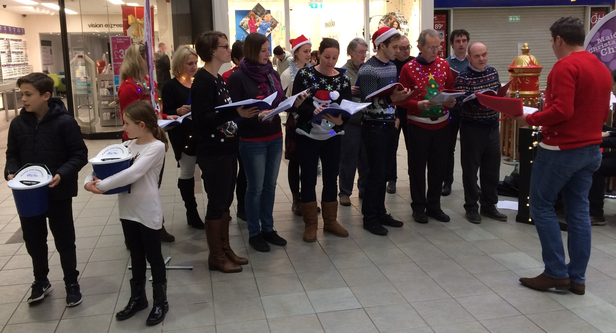Community fundraising - Carol Singing in Nicholson CentreOn the 17th of December members of the church sang some classic carols and provided some Christmas cheer at the Nicholson Centre in Maidenhead. We raised money for Meal a Day, a charity that we support regularly.www.meal-a-day.org