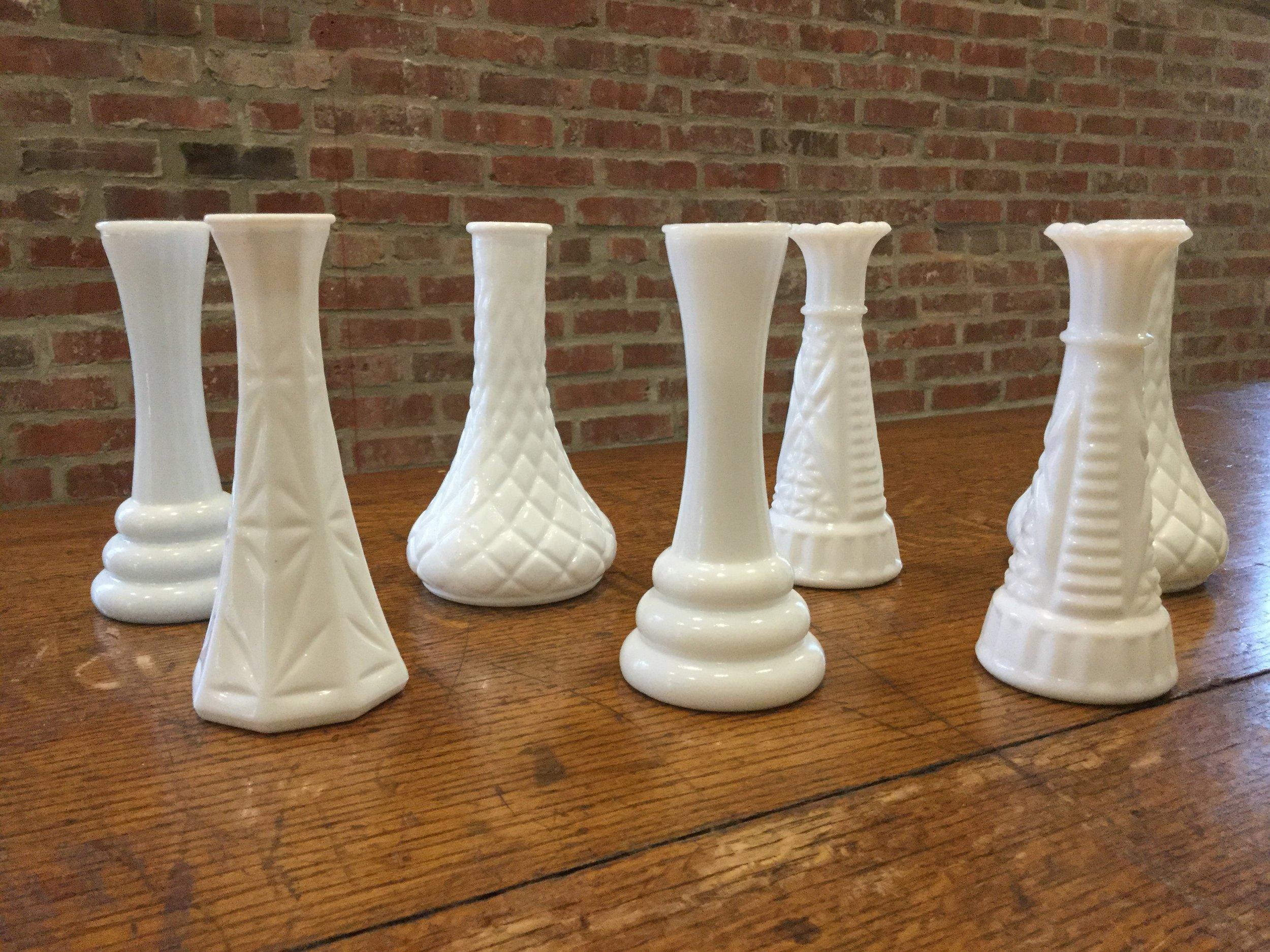 Milk Glass Vases - $1.50 each