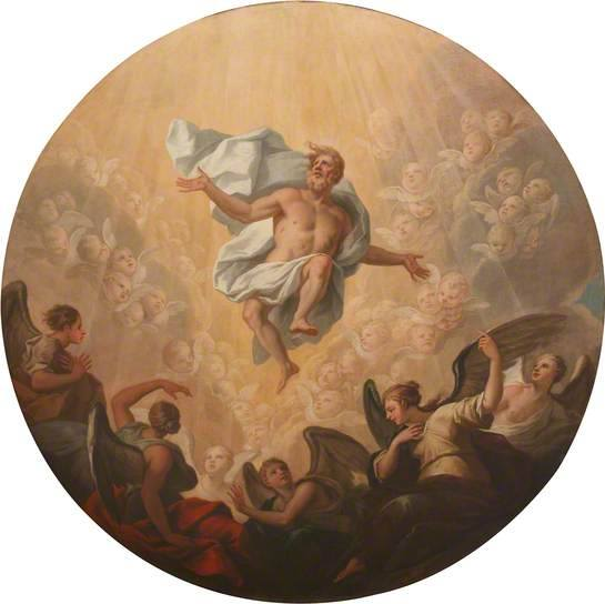 Ascension roundel, the Chapel of The Queen's College, Oxford