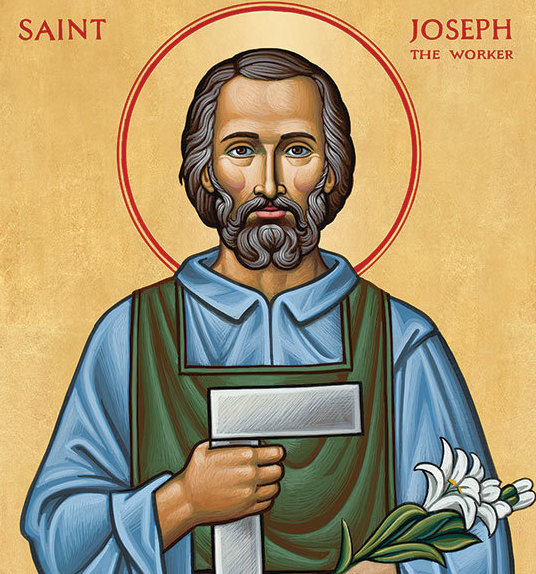 St Joseph the Worker , Monastery Icons.