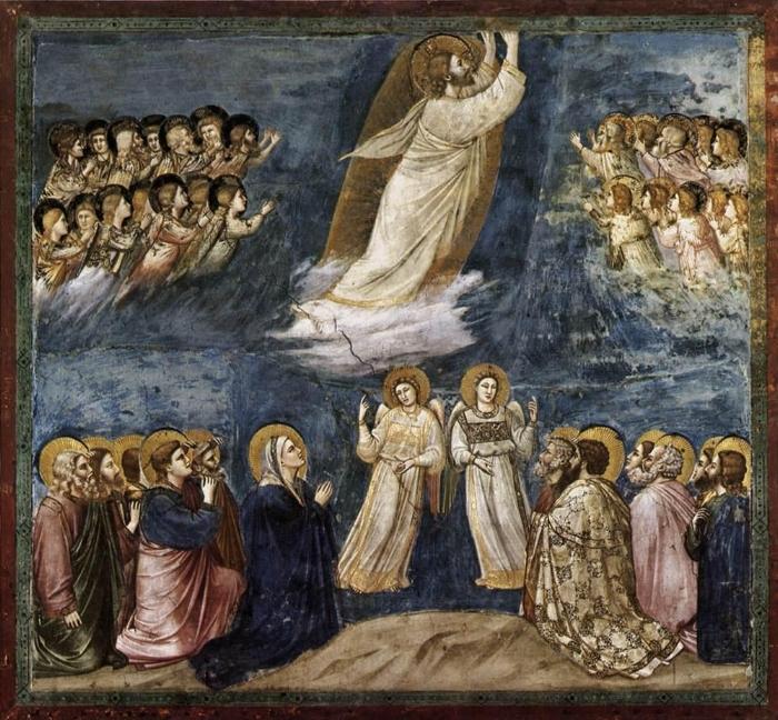 Giotto.  The Ascension . Scrovegni Chapel, Padua.