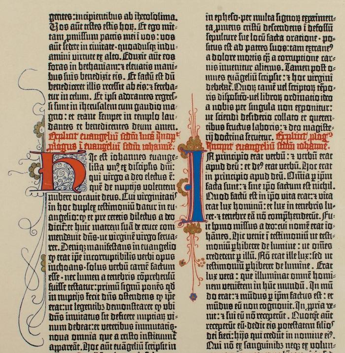 John's Gospel, Gutenberg Bible.