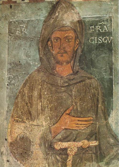 St Francis . Benedictine abbey of Subiaco.