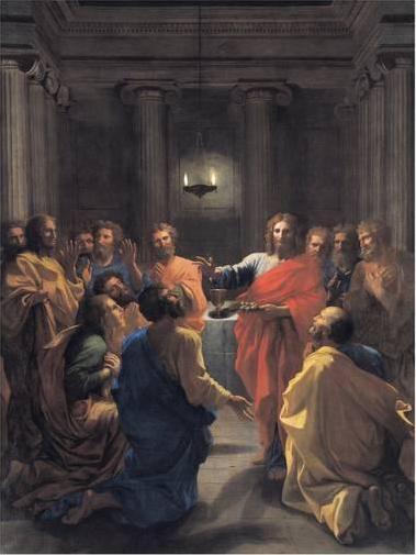 Nicholas Poussin.  Christ instituting the Eucharist .