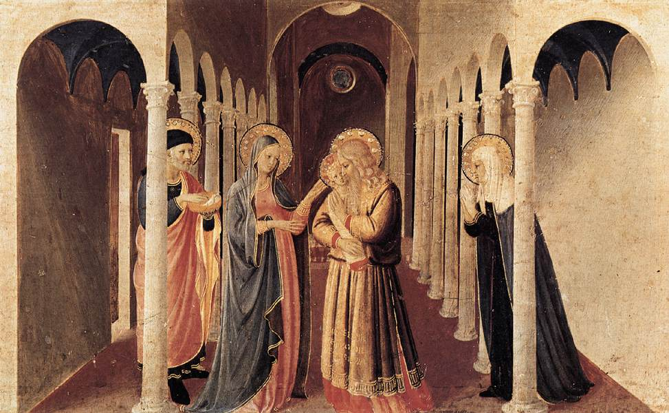 Fra Angelico. The Presentation of Christ in the Temple (Cortona Polyptych)