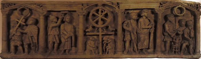 Sarcophagus with scenes from the Passion of Christ  at the  Vatican Museum . ca. 350 CE.