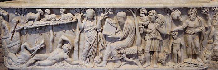 Sarcophagus at Santa Maria Antiqua, Rome.  ca. 275 CE.