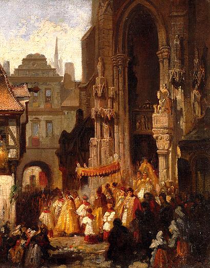 Corpus Christi Procession . Carl Emil Doepler.