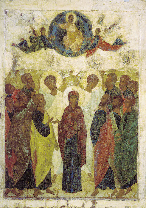 The Ascension of Christ. Andrei Rublev.