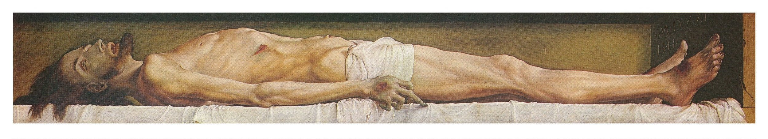 Hans Holbein the Younger.  The Body of the Dead Christ in the Tomb.