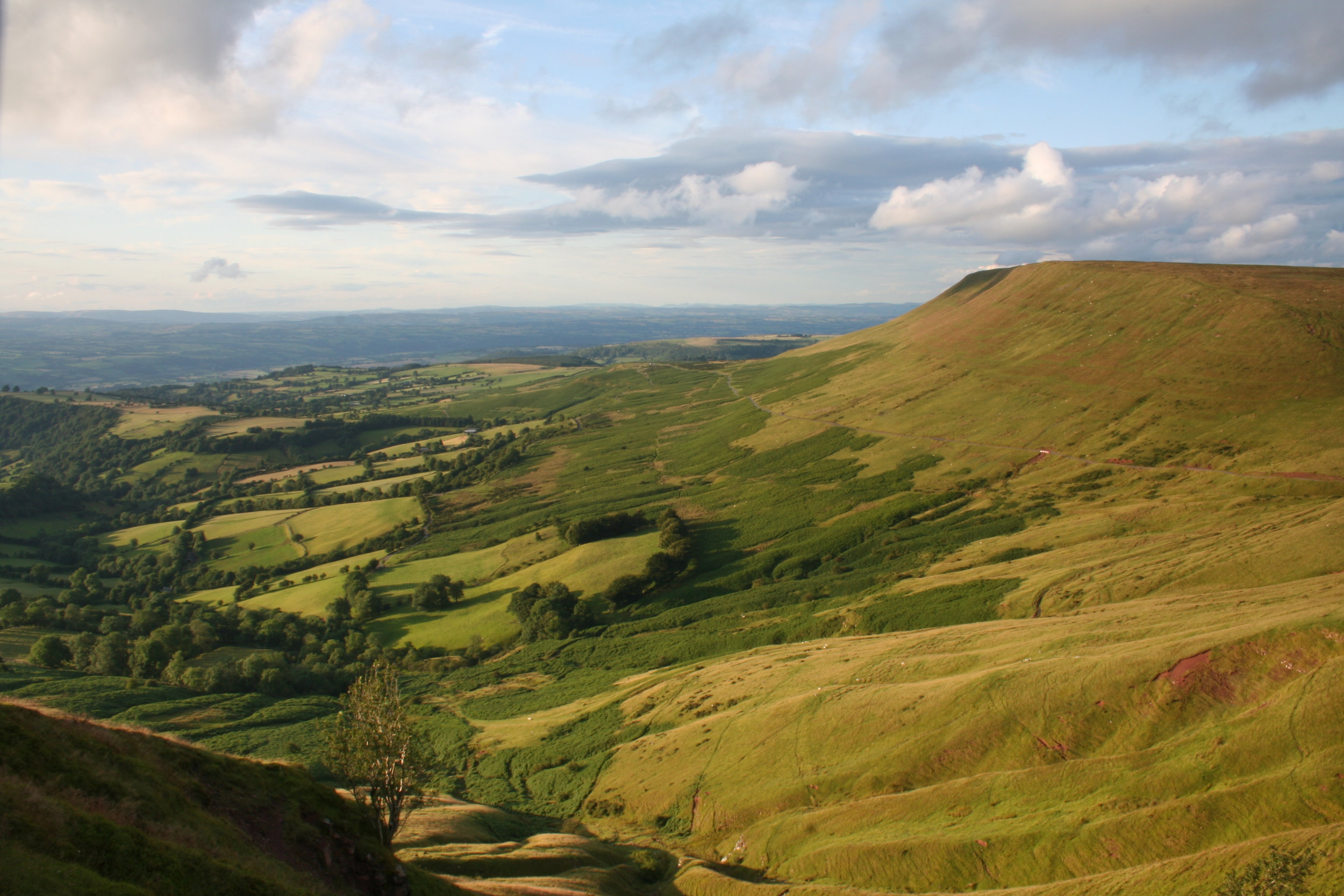 Hay Bluff with the Wye Valley in the distance