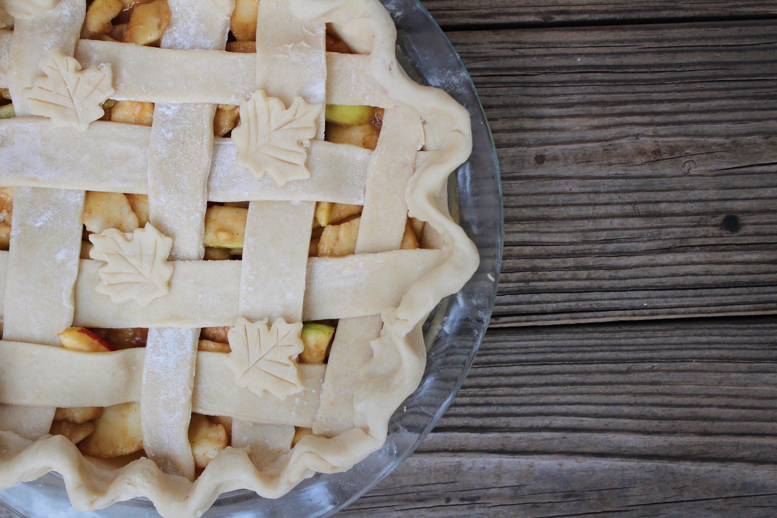 pre-bake apple pie