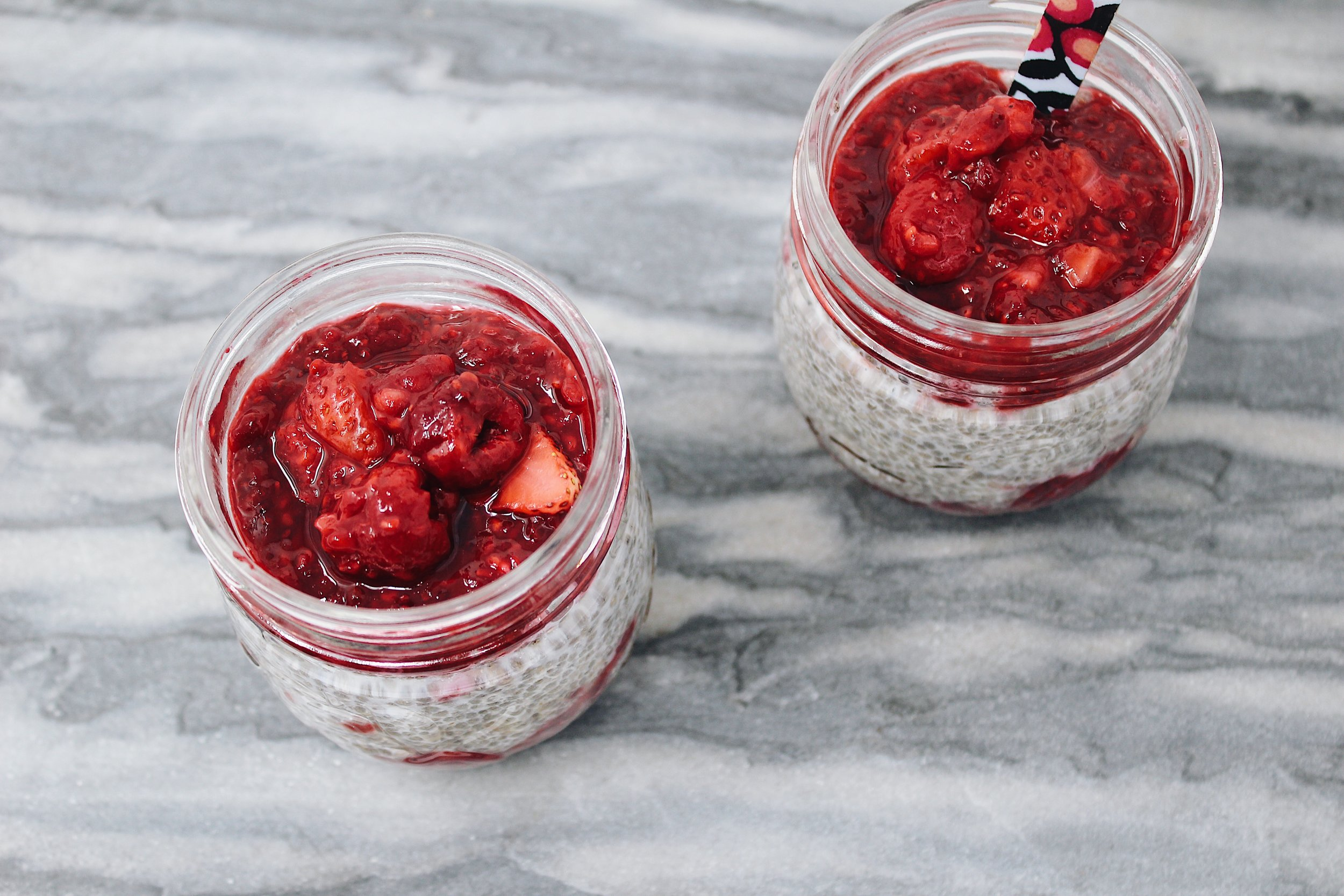 My Portuguese Mother // Raspberry Chia Pudding