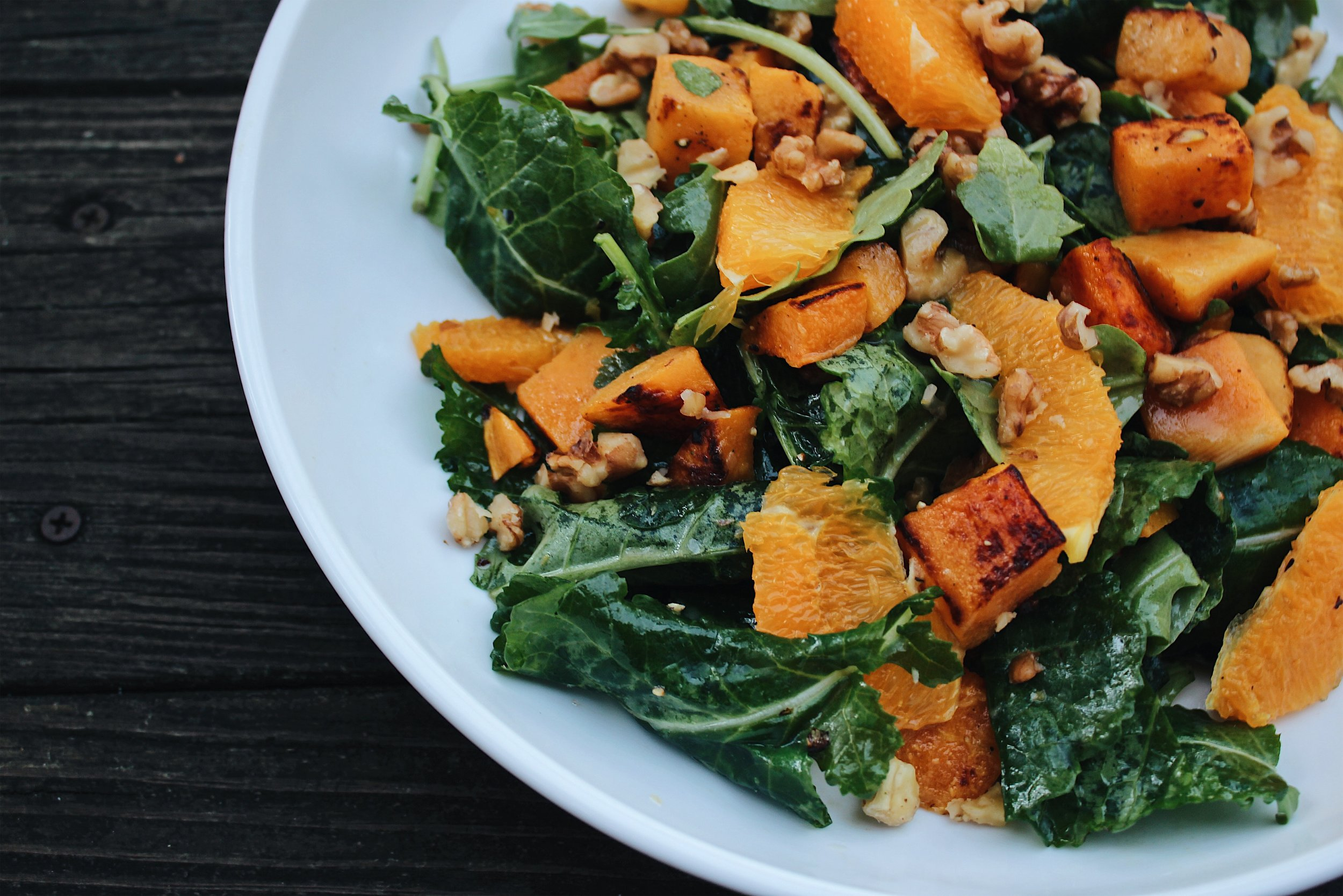 My Portuguese Mother // Butternut Squash Citrus Salad