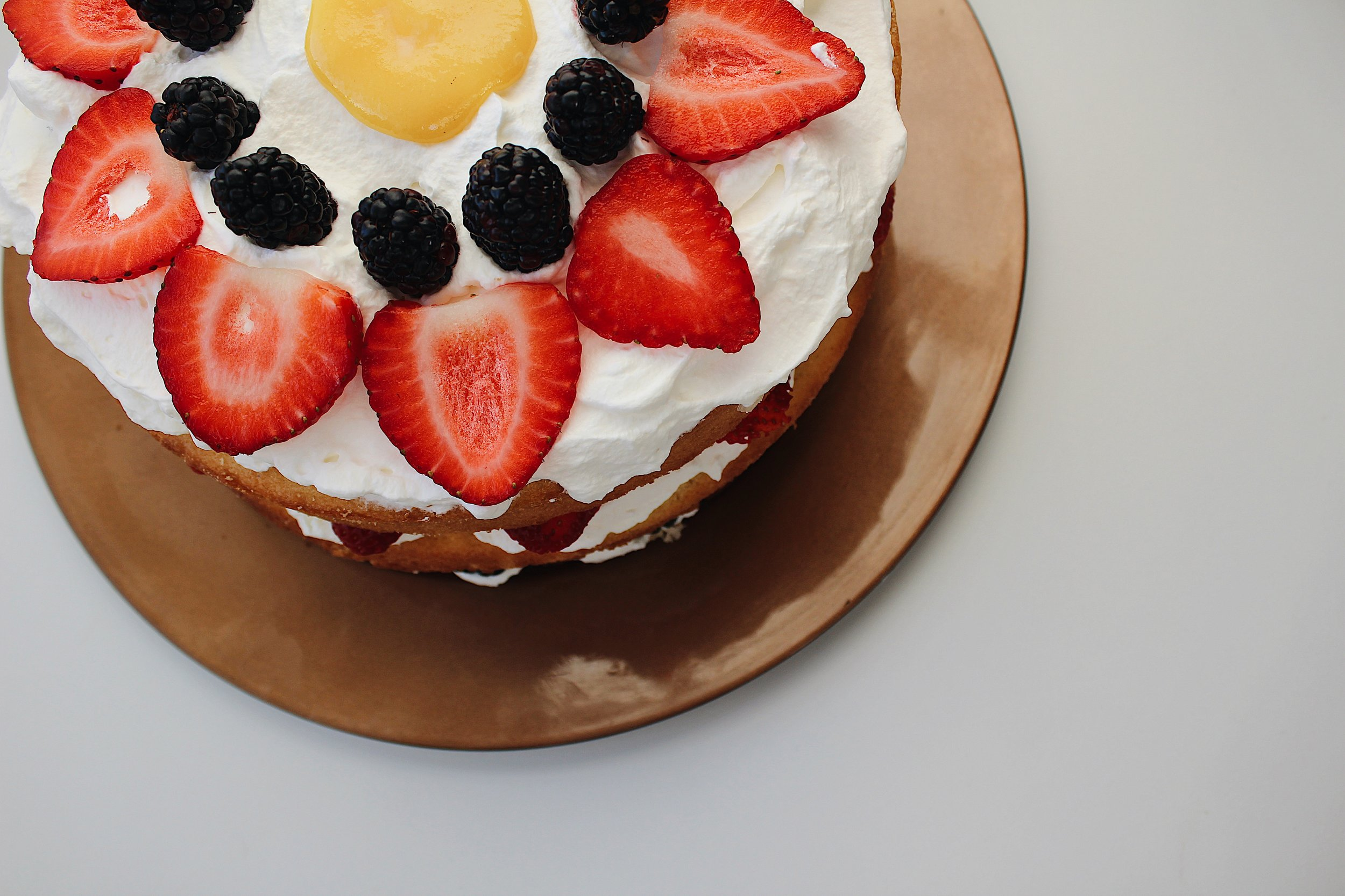 My Portuguese Mother - Vanilla layered Berry Cake