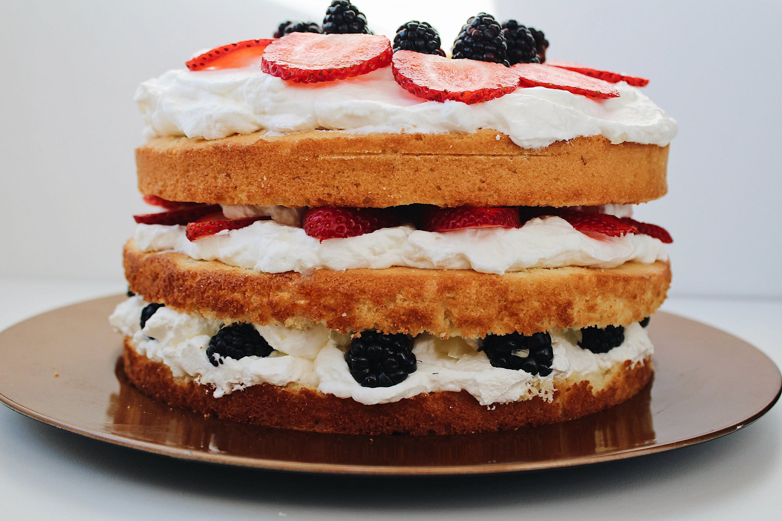 My Portuguese Mother - Vanilla layered Berry Cake