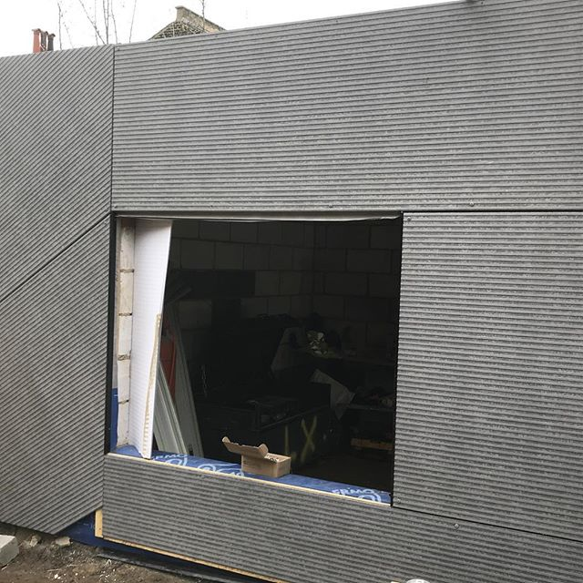 New @equitone_facade linea cladding being fitted to garden room on full house refurb. Loft cladding going on next. #se4 #cladding #refurbishment #construction #loft