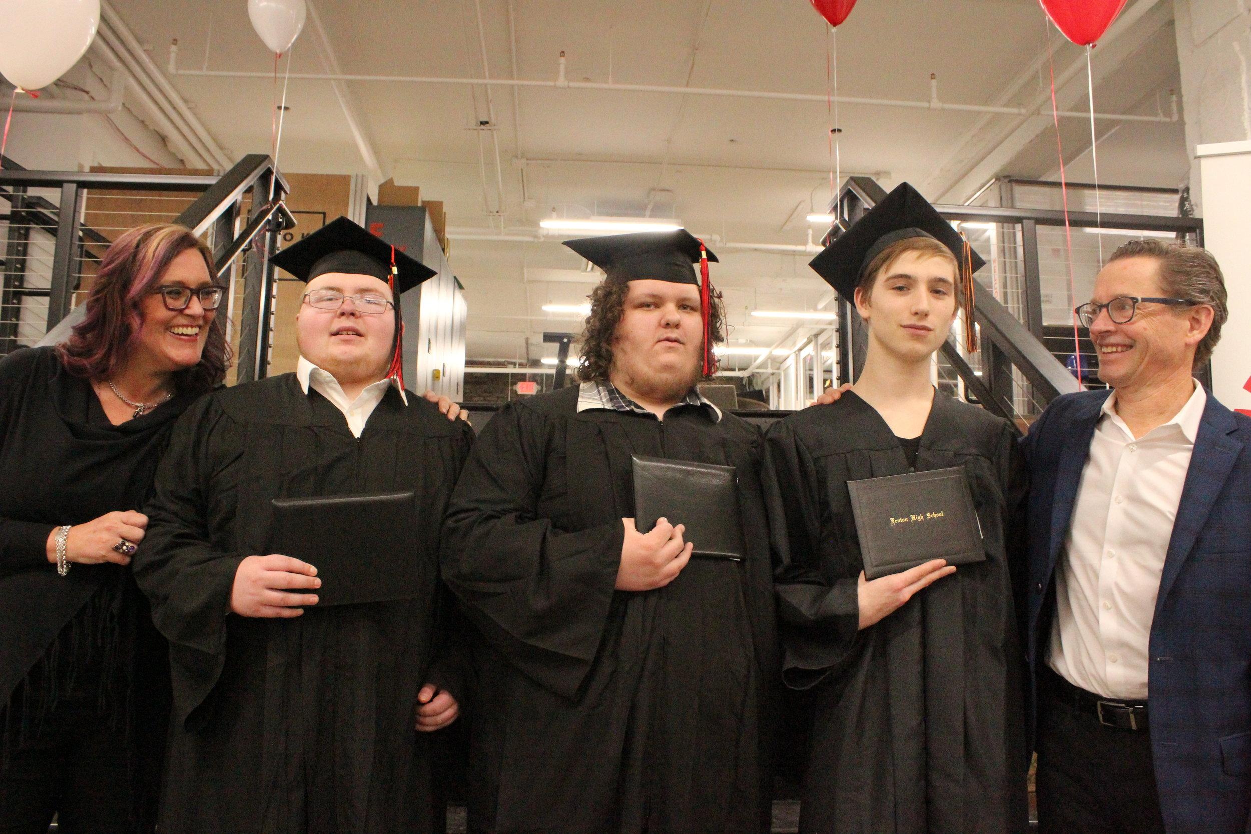 Left to right: Kelly Rodgers, Jed Khon, Justin Hubbard, Ryan Bycynski & Winston Stoody