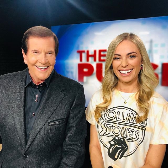 """I've been on @9newsperth #ThePulse for over a year now. The second time I was ever on live tv I was on with Burgo - who is TV royalty in Australia for anyone who doesn't know. I was so nervous that I accidentally called him Ron (as in Ron Burgundy) cos I couldn't stop thinking about Anchorman... 🤦🏼♀️ CRINGE. His name is John. John """"Burgo"""" Burgess. Yesterday we were rostered on together again AFTER A WHOLE YEAR and I finally had the chance to redeem myself. After explaining what had happened to everyone in hair and makeup, they were in hysterics and I was nervous again because you can see the resemblance in the names RIGHT?! Anyhoo I would like to formally announce that I got BURGO's name right this time. On AND off air 👏 *hair flick* *bows* 💅 Please see my story for further detail on this moment."""