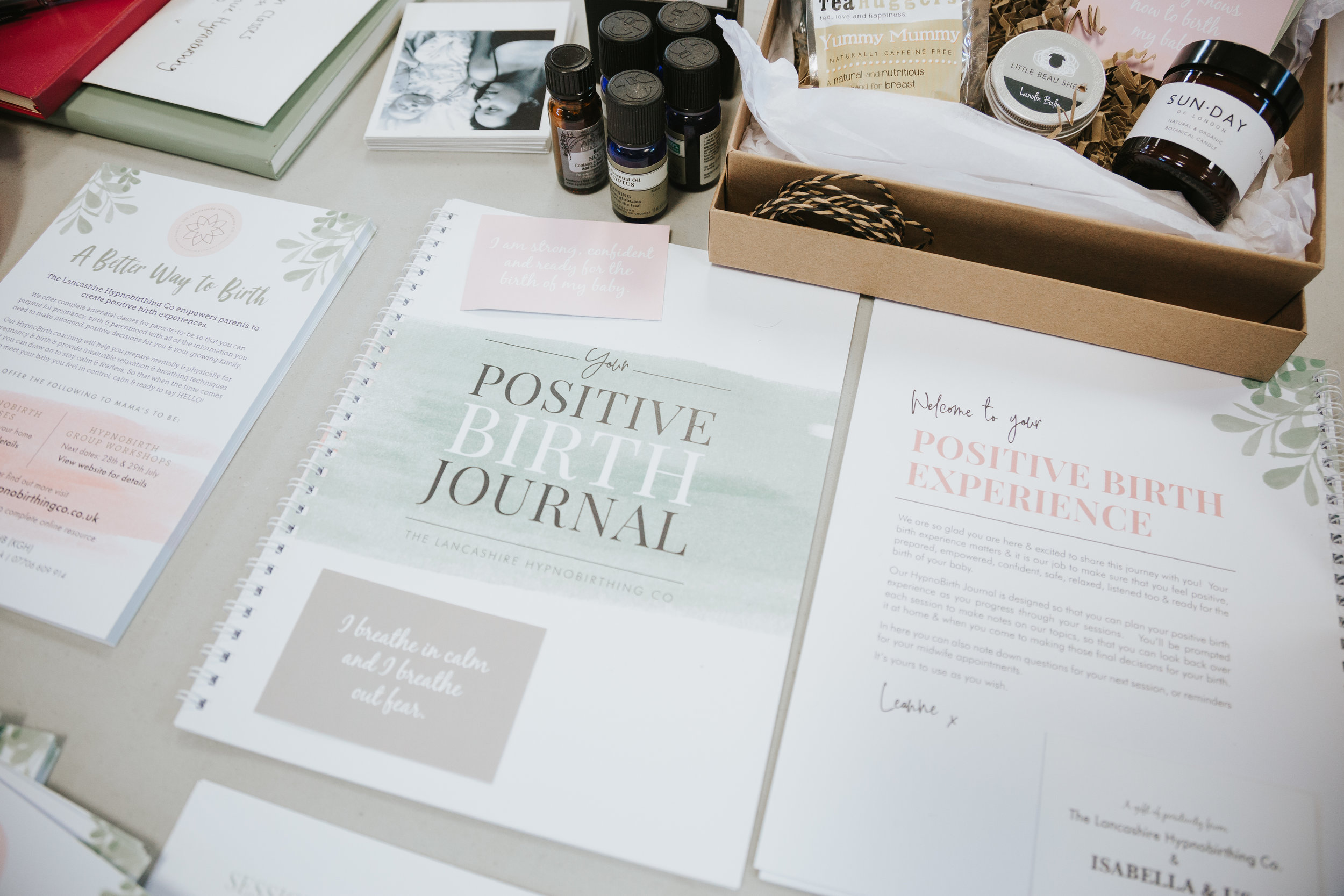 All our parents-to-be receive The Positive Birth Journal and a copy of The KG Hypnobirthing Book as well as a pack of positive birth affirmations to complement the classes & enable you to practice & prepare at home.