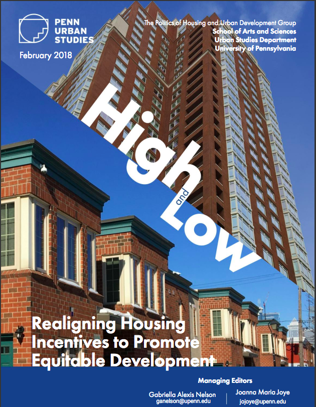 High and Low: Realigning Housing Incentives to Promote Equitable Development -