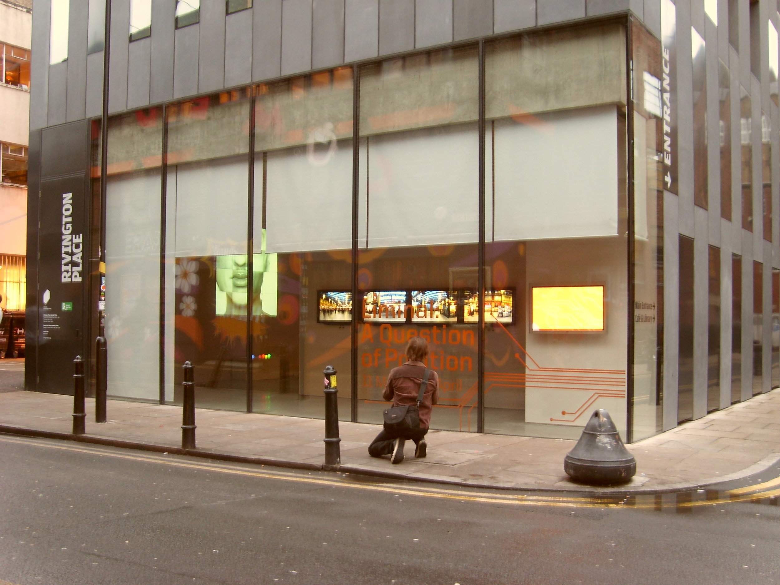 Liminal  at Rivington Place, 2009. INIVA, East London. Work:   [wɔ:l bɔ:l]  - interactive installation .