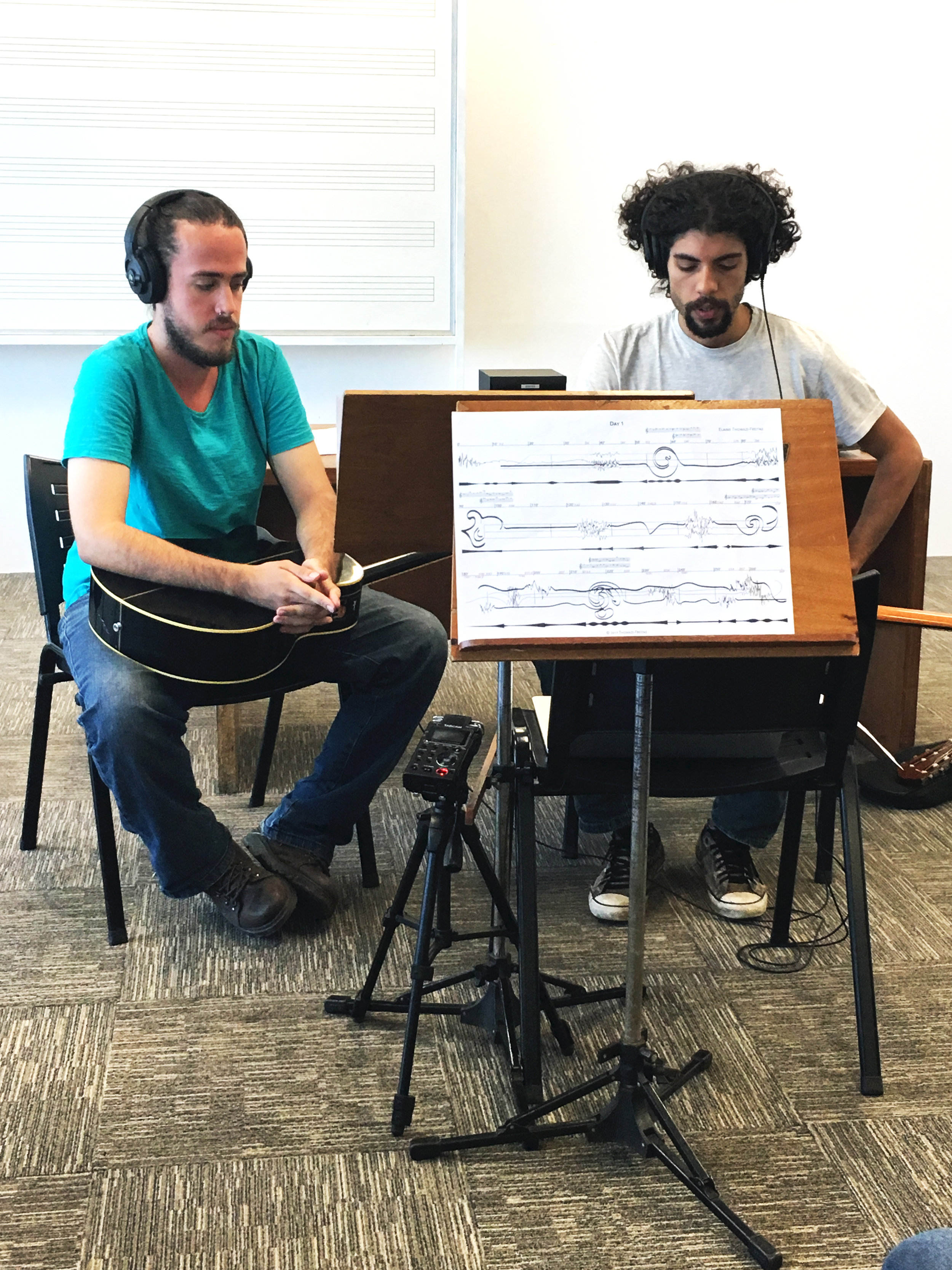 School of Music – Federal University of Rio de Janeiro; Brazil, December 2017.  Experimental Music Workshop  with UG Music students and special guests on the work   Day 1  .