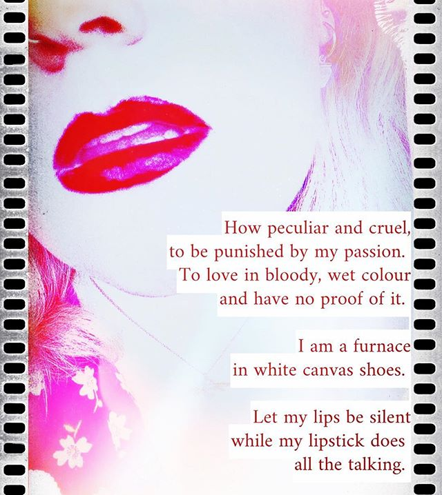"""Red lips""  I didn't know what today's #maymyselfandi prompt was when I put this lipstick on and I'm thrilled by how serendipitous it was.  #poetry #love #poetrycommunity #writersofinstagram #poem #poet #quotes #writer #poems #poetsofinstagram #writing #art #words #wordporn #escapril #napowrimo #penguinplatform #globalpoetcult  #ukpoet #creativewriting #poetsofig #amwriting"