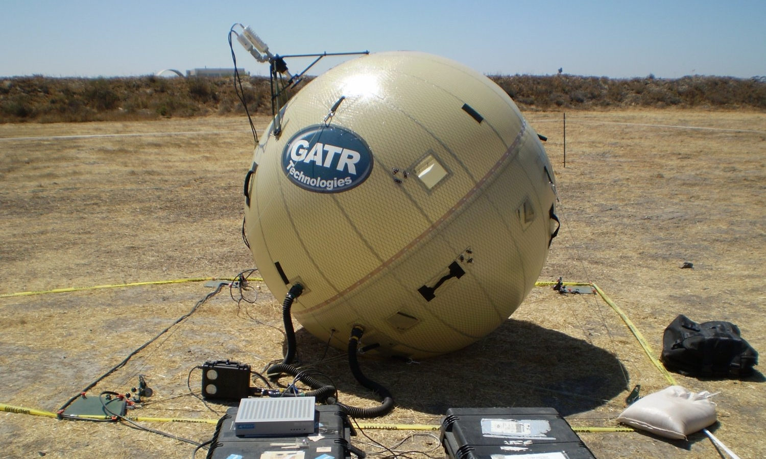 Inflatable Satellite Dishes - We are the proud supplier of the balloon component for GATR Technologies portable SATCOM