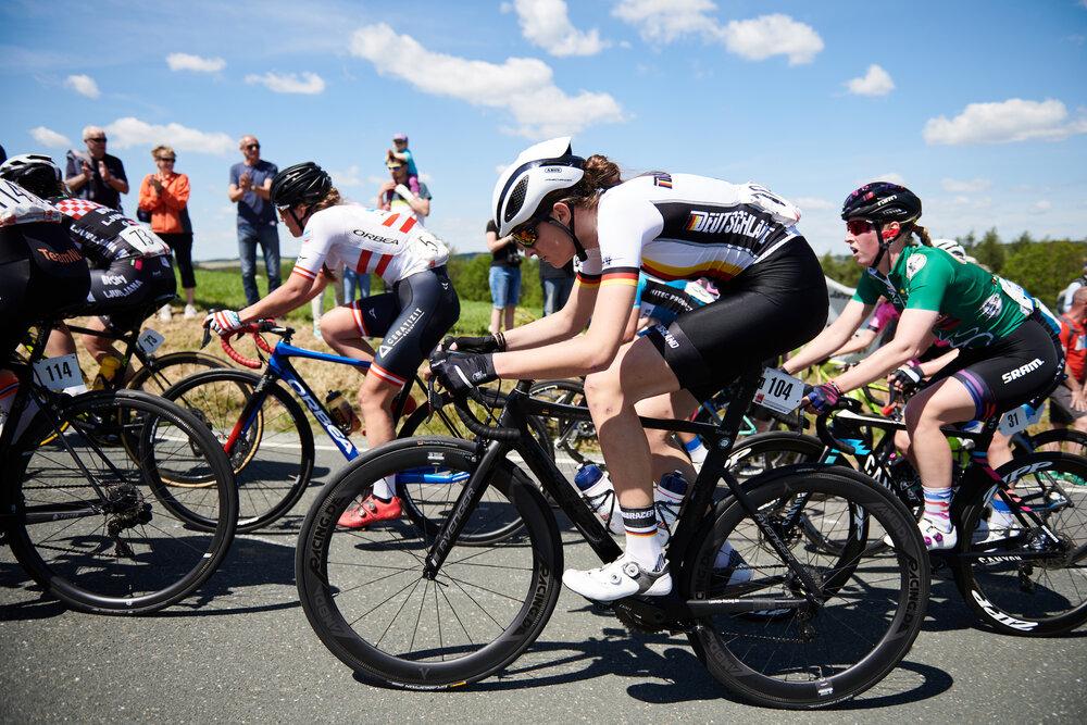 Finja Smekal (GER) on Hankaberg at Lotto Thüringen Ladies Tour 2019 - Stage 3, a 97.8 km road race in Dörtendorf, Germany on May 30, 2019. Photo by Sean Robinson/velofocus.com