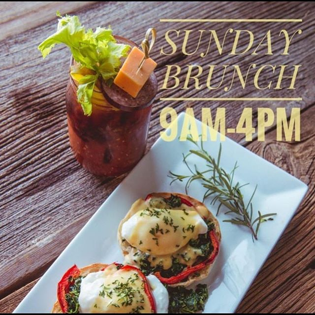 Join us for our Sunday brunch and Bloody Mary bar from 9-4 today!