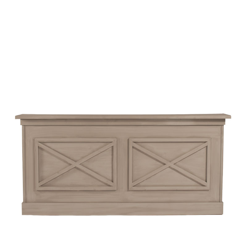 "MORELAND BAR FACADE   8'l x 44""h x 15"" top with 16"" side returns"