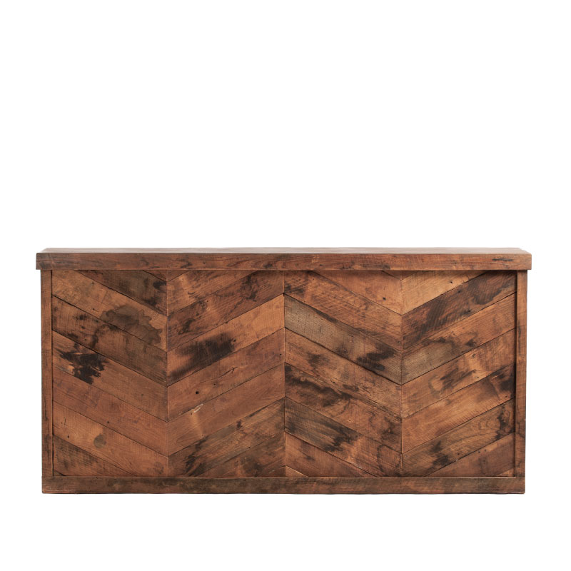 """JACKSON BAR FACADE   8'l x 44""""h x 15"""" top with 16"""" side returns"""