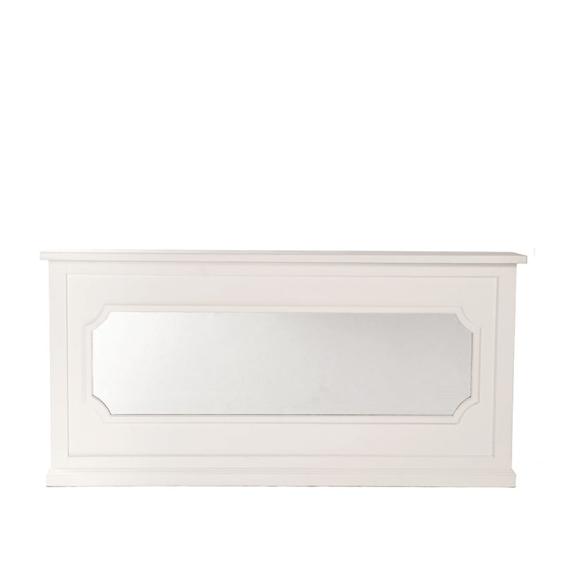 """GEORGIA BAR FACADE WITH FLAT MIRROR INSERT   8'l x 44""""h x 15"""" top with 16"""" side returns"""