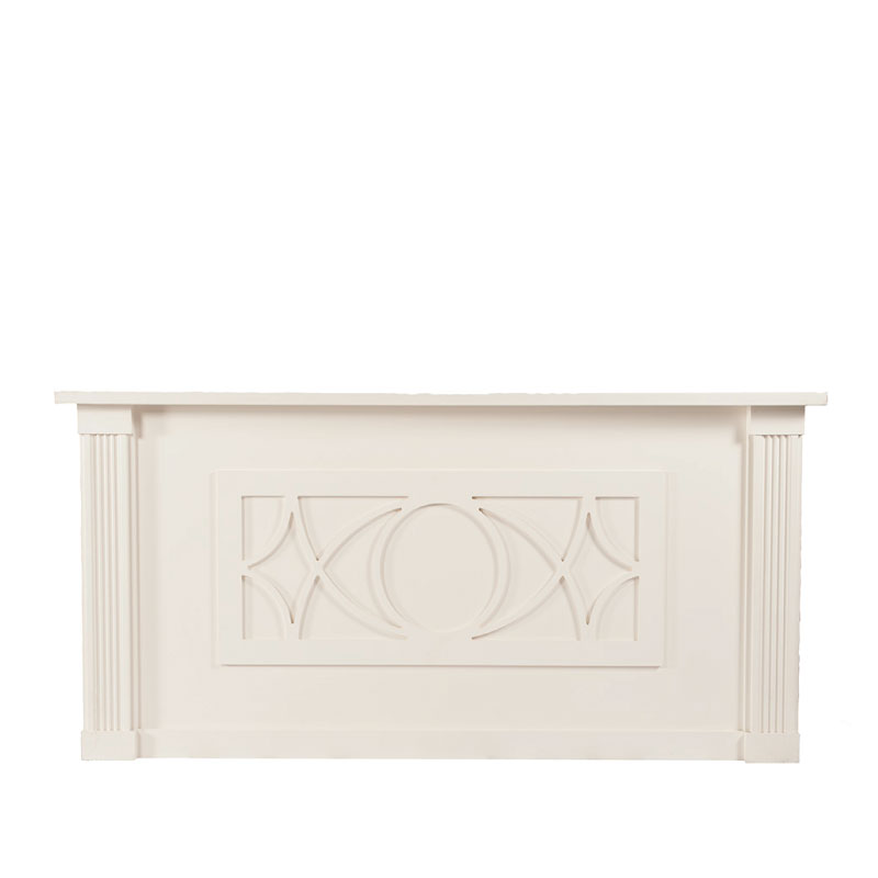 """LIBBY BAR FACADE   8'l x 44""""h x 15"""" top with 16"""" side returns"""