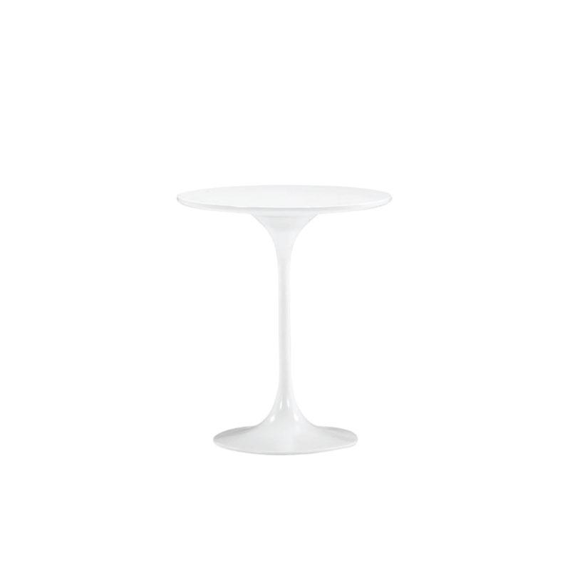"WHITE JETSON SIDE TABLE   20"" diameter x 23""h"