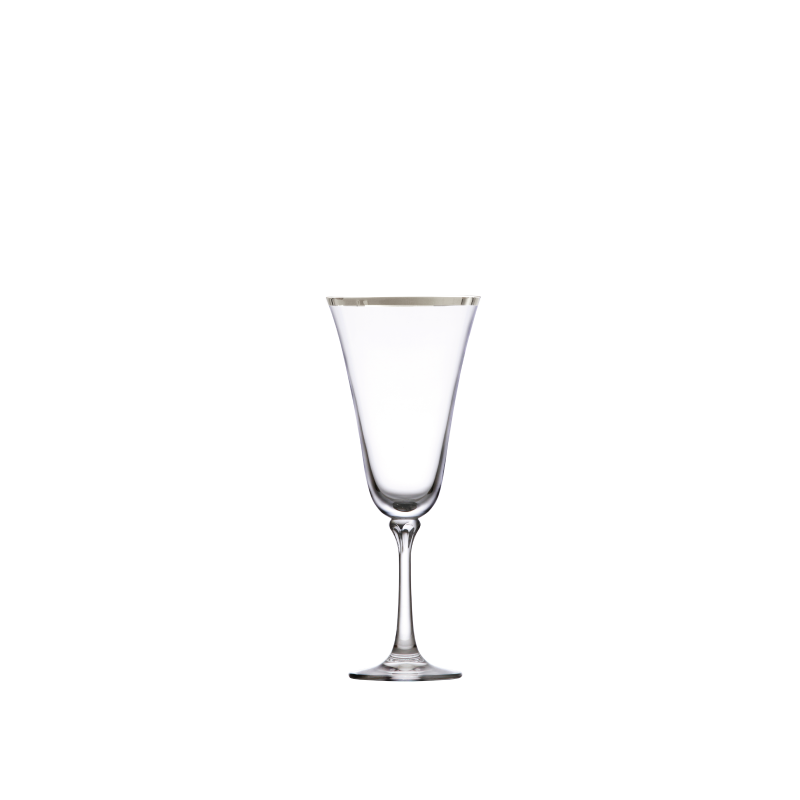 PLATINUM RIM RED WINE GLASS   available in: 13.5 ounce