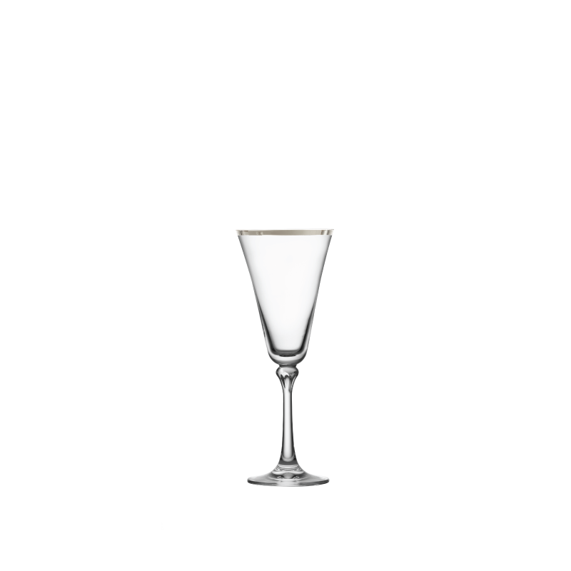 PLATINUM RIM WHITE WINE GLASS   available in: 10 ounce