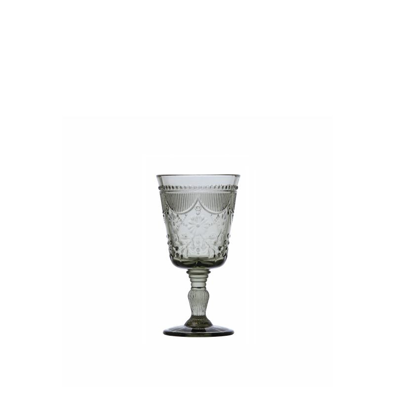 DEBUTANTE SMOKE GLASS GOBLET   available in: 10 ounce