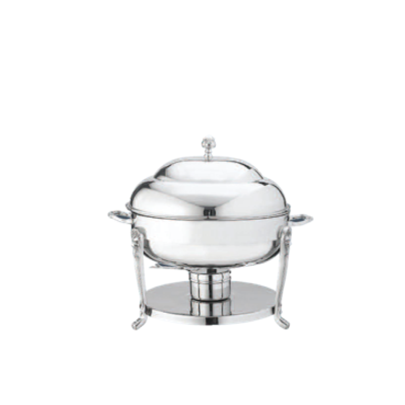 SILVER PLATED ROUND CHAFING DISH   available in: 6 quart