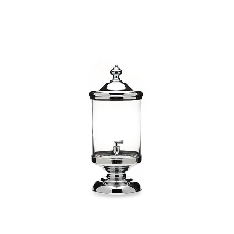 GLASS & CHROME BEVERAGE DISPENSER   available in: 2.5 gallon