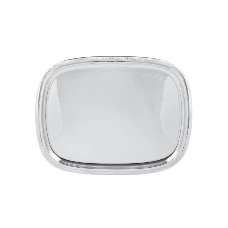"SILVER RECTANGULAR TRAY   available in: 19""x24"""