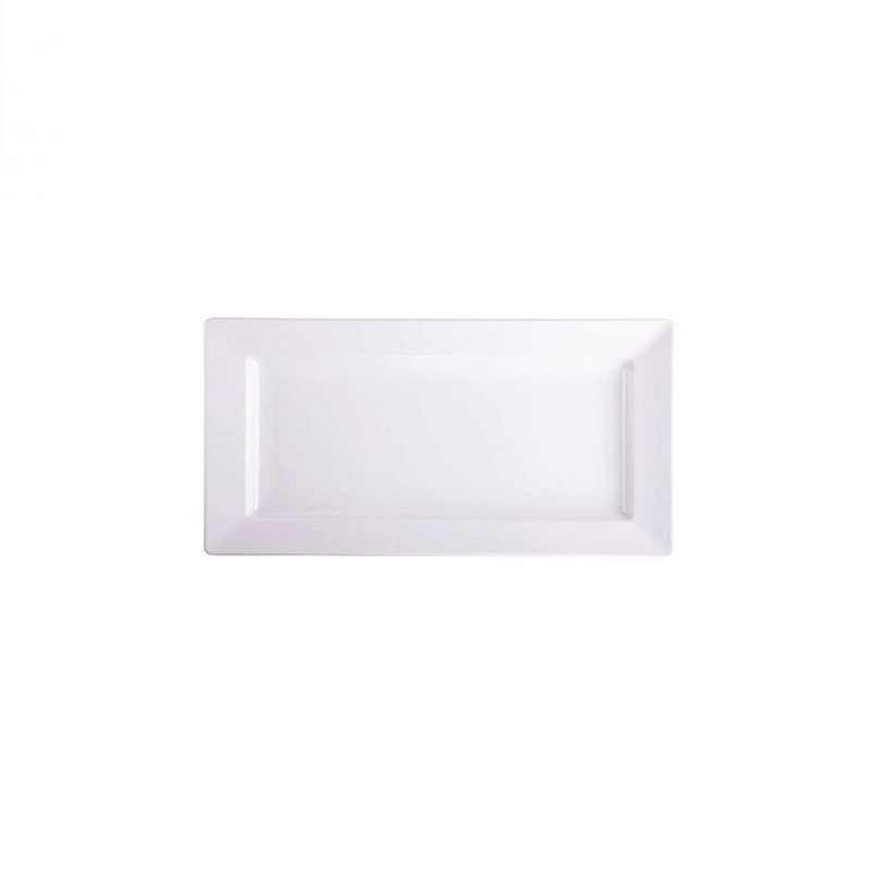 "MELAMINE WHITE RECTANGULAR TRAY   available in: 9""x17"", 10""x20"""