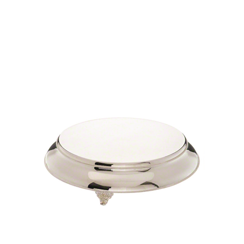 CLASSIC SILVER ROUND CAKE PLATEAU   available in: 18""