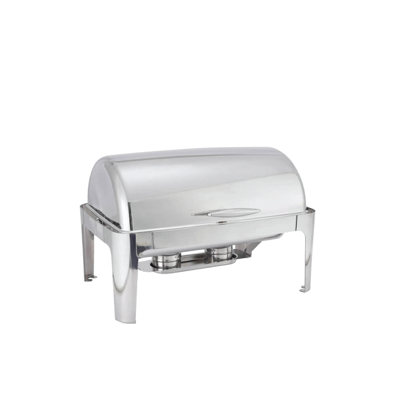 MADISON SILVER RECTANGULAR CHAFING DISH   available in: 8 quart