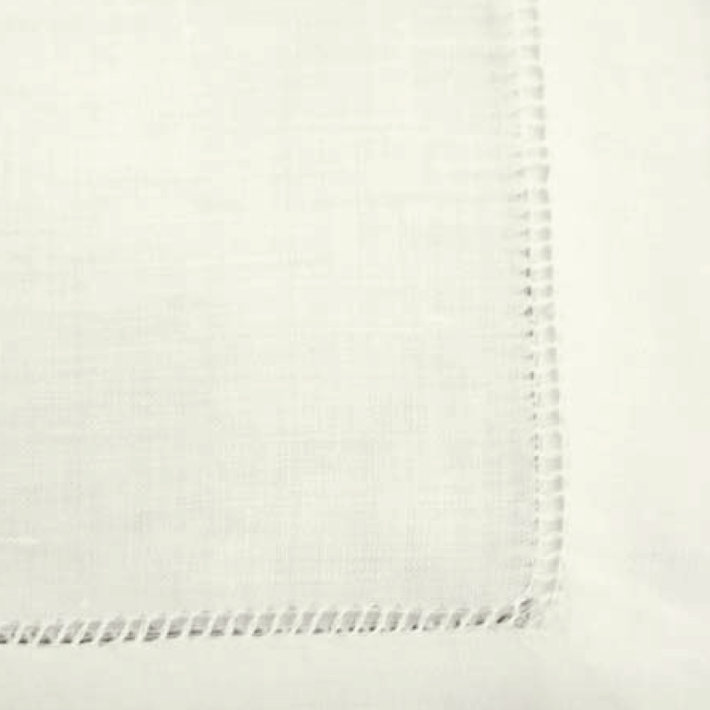 "IVORY LINEN HEMSTITCH NAPKIN   available in: 20""x20"""