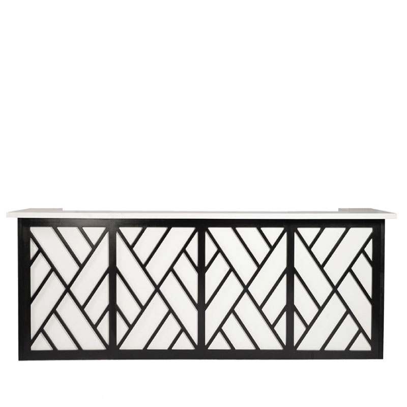 """BURKE BAR FACADE   130""""l x 42""""h x 15"""" top with 22"""" side returns"""