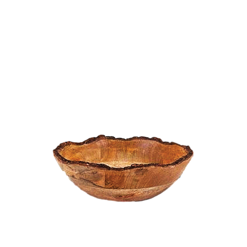 "WOOD BARK SERVING BOWL   available in: 10"", 12"", 13.25"""